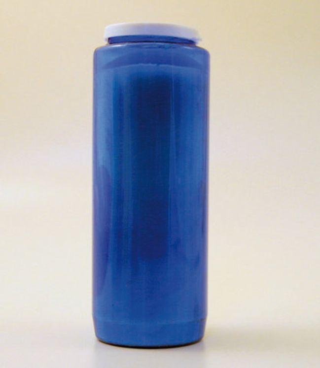 Bougie de neuvaine bleue, durée de brûlage 9 jours