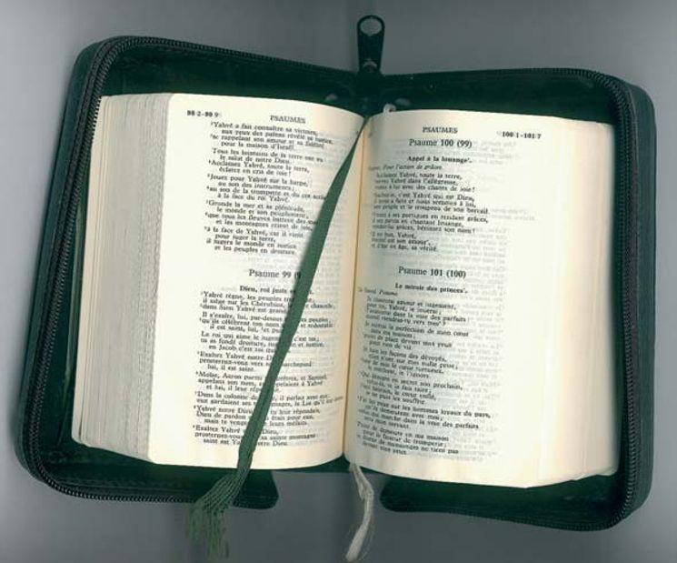 BT PF - Etui en cuir Bible T.O.B. (13x18,8) avec fermeture éclair