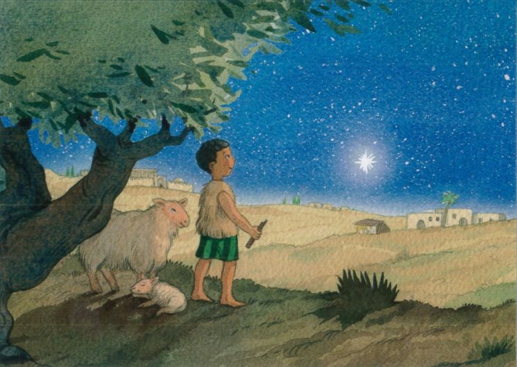 10 cartes doubles nuit de Noël - Le petit berger