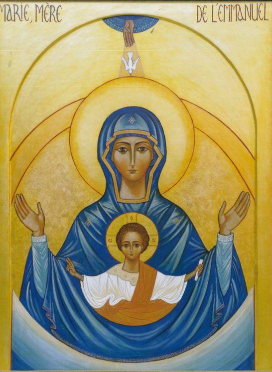 Poster Marie, Mère de l´Emmanuel 29.7*42