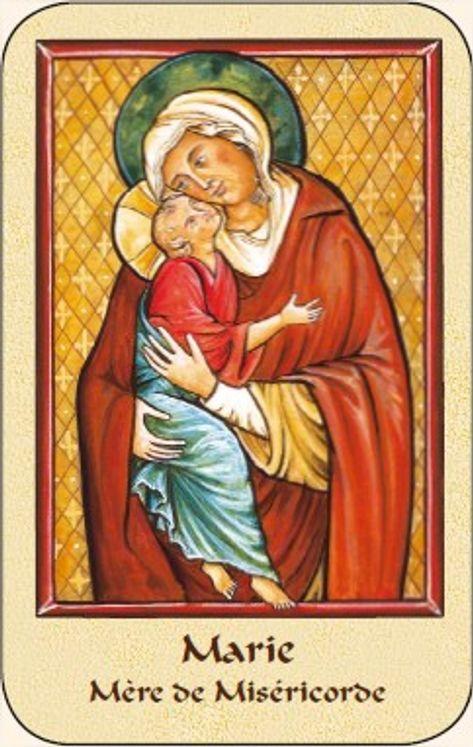 Paquet de 50 Cartes - Prière - CB1104 - Vierge de Tendresse