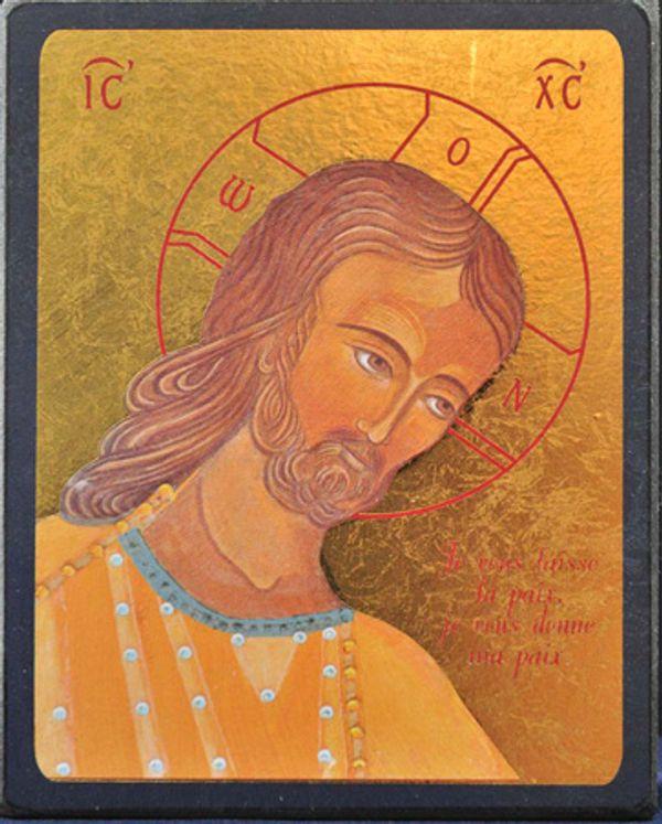 Icône qualité Or Christ  Amour et Sagesse  9 x 15