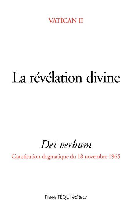 La révélation divine - Dei verbum