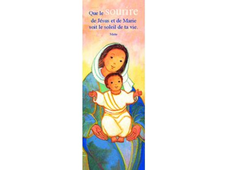 Signet  Maïté Roche Jésus sur les genoux de Marie
