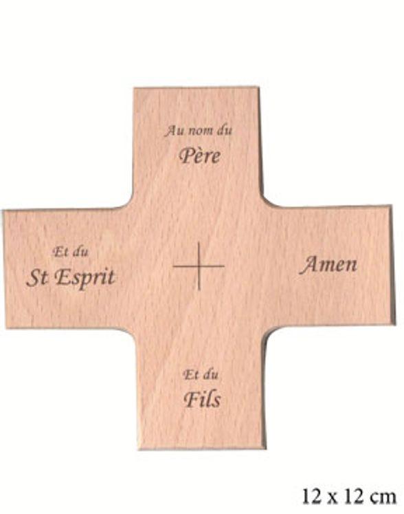Croix en bois Au nom du Père