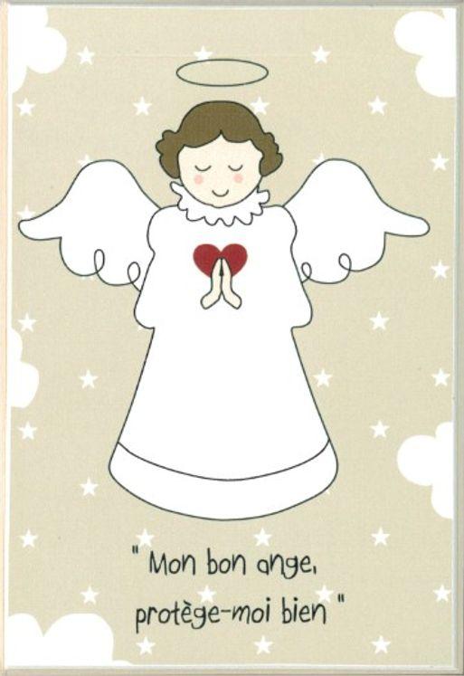 Icône Tante Menoue à accrocher Ange (fond beige)