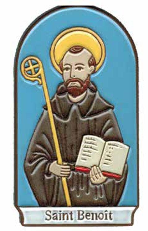 Plaque murale céramique Saint Benoit