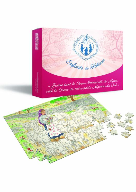 Jacinthe, pastourelle de Marie - Puzzle 64 pièces + feuille modèle