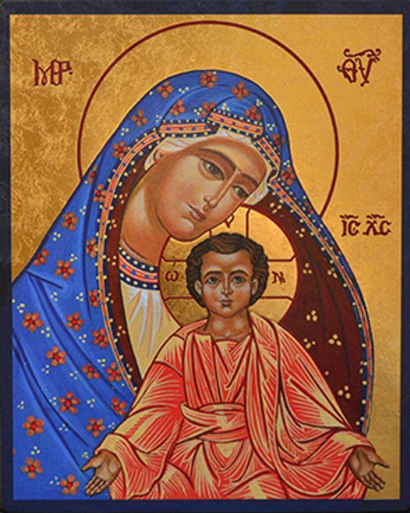 Icône qualité Or La Vierge au Manteau  11,5 x 15,5 cm