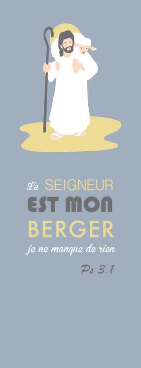 Pack de 20 - Signet Collection Chic - Le Seigneur est mon Berger