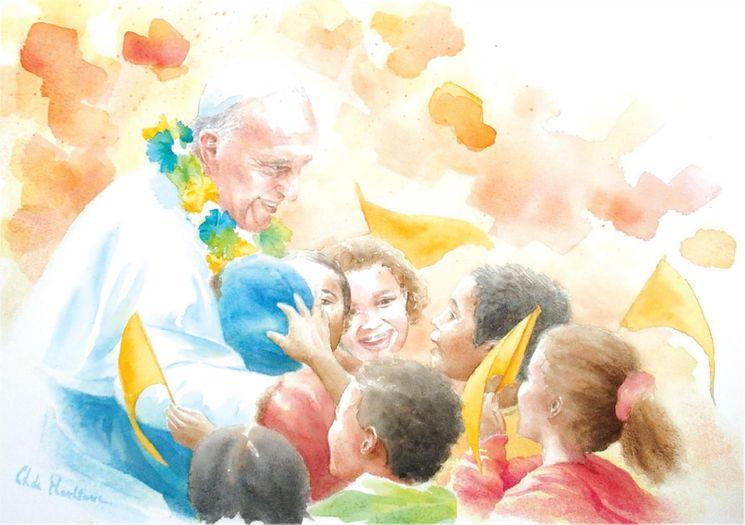 Carte Pape François Favelas