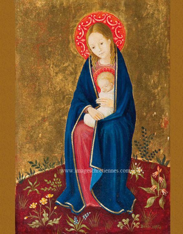 Image Bradi Barth Vierge à l´enfant, auréole rouge - Lot de 25
