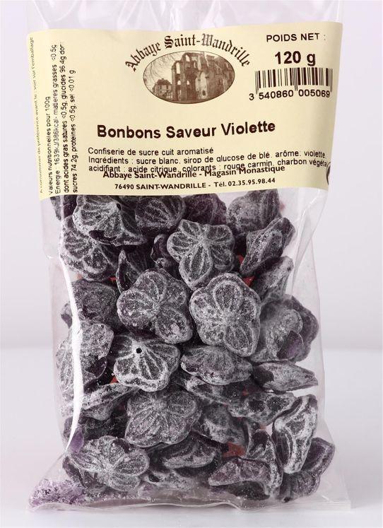 Bonbons saveur Violette, sachets 120 g