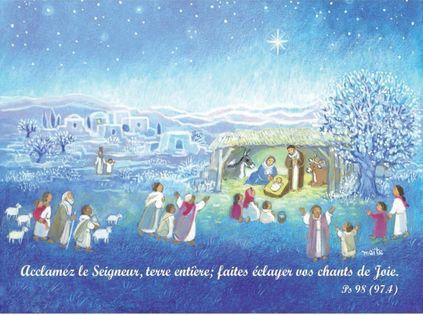 Lot de 10   Cartes Doubles Maïté Roche Noël + enveloppes sous