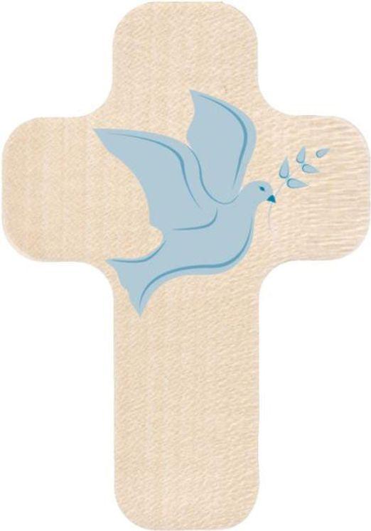Croix en bois imprimée  Colombe Esprit Saint