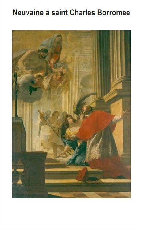 Livret de neuvaine à saint Charles Borromée