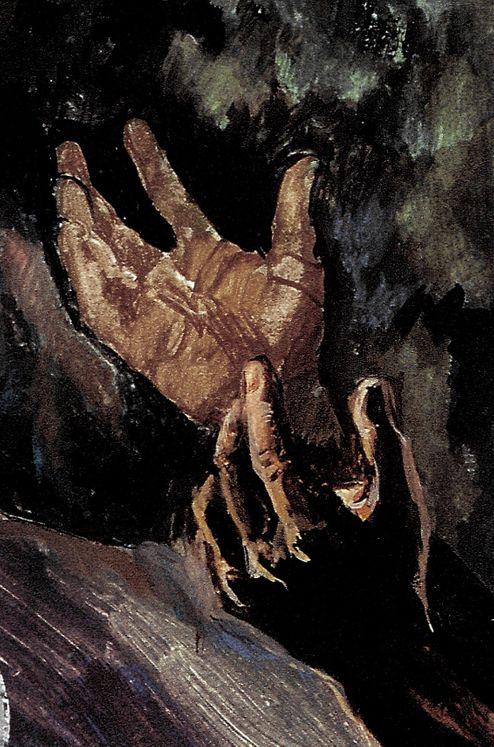 Les Mains de Jésus à Gethsemani, Carte simple Vie de Jésus Mafa