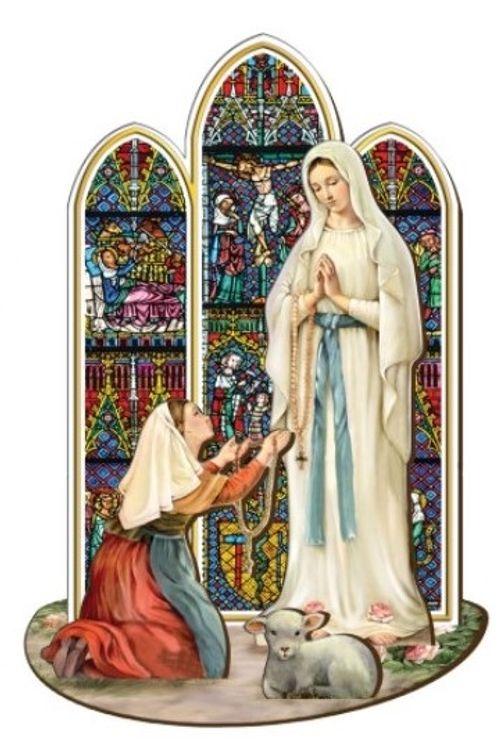 Notre Dame de Lourdes - Saint en bois à assembler (taille 12 cm)