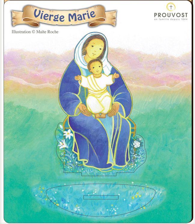 Vierge Marie - Saint en bois Maïté Roche