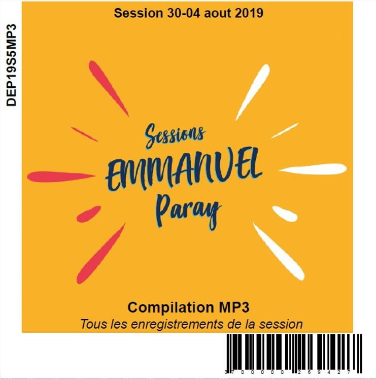 Session 30-04 aout 2019, CD MP3