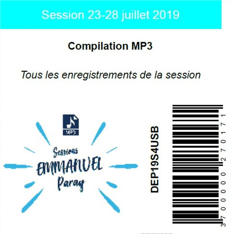Session 23-28 juillet 2019, USB MP3