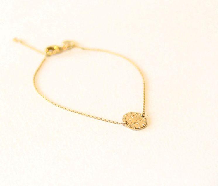 """Bracelet médaille """"Ave Maria"""" couronnée de 12 étoiles"""