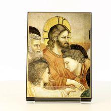 Peinture religieuse montée sur Bois
