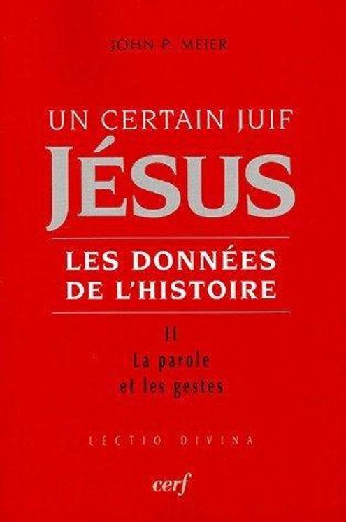 Un certain Juif, Jésus - Les données de l'histoire Tome 2, La parole et les gestes